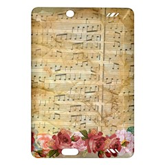 Background Old Parchment Musical Amazon Kindle Fire Hd (2013) Hardshell Case
