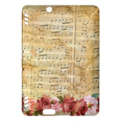 Background Old Parchment Musical Kindle Fire Hdx Hardshell Case