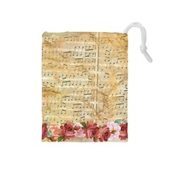 Background Old Parchment Musical Drawstring Pouches (medium)