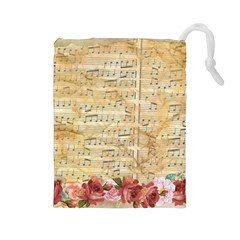 Background Old Parchment Musical Drawstring Pouches (large)