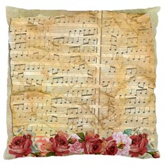 Background Old Parchment Musical Standard Flano Cushion Case (one Side)