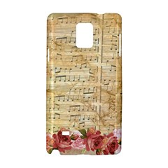 Background Old Parchment Musical Samsung Galaxy Note 4 Hardshell Case