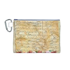 Background Old Parchment Musical Canvas Cosmetic Bag (m)