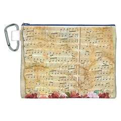Background Old Parchment Musical Canvas Cosmetic Bag (xxl)