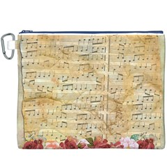 Background Old Parchment Musical Canvas Cosmetic Bag (xxxl)