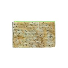 Background Old Parchment Musical Cosmetic Bag (xs)