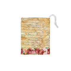 Background Old Parchment Musical Drawstring Pouches (xs)
