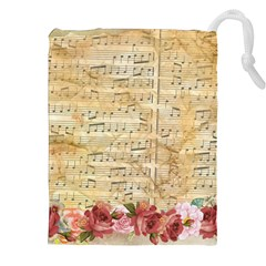 Background Old Parchment Musical Drawstring Pouches (xxl)