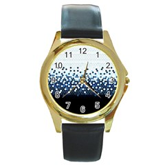 Tech Camouflage Round Gold Metal Watch