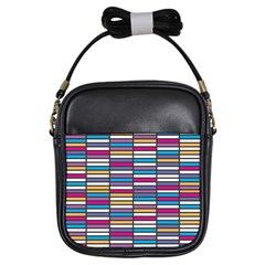 Color Grid 01 Girls Sling Bags