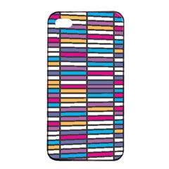 Color Grid 01 Apple Iphone 4/4s Seamless Case (black)