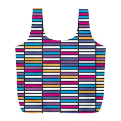 Color Grid 01 Full Print Recycle Bags (l)