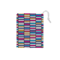 Color Grid 01 Drawstring Pouches (small)