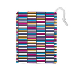 Color Grid 01 Drawstring Pouches (large)