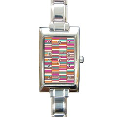Color Grid 02 Rectangle Italian Charm Watch