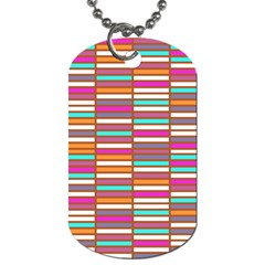 Color Grid 02 Dog Tag (two Sides)