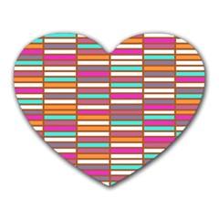 Color Grid 02 Heart Mousepads