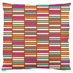 Color Grid 02 Large Cushion Case (two Sides)