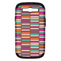 Color Grid 02 Samsung Galaxy S Iii Hardshell Case (pc+silicone)