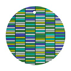 Color Grid 03 Ornament (round)
