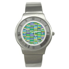 Color Grid 03 Stainless Steel Watch
