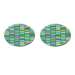 Color Grid 03 Cufflinks (oval)