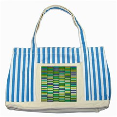 Color Grid 03 Striped Blue Tote Bag