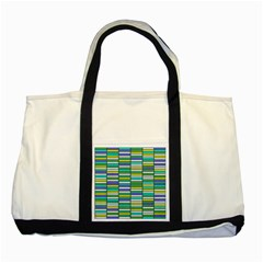 Color Grid 03 Two Tone Tote Bag
