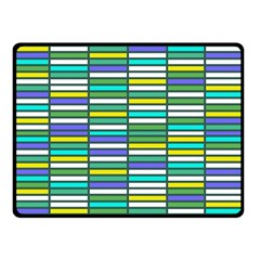 Color Grid 03 Double Sided Fleece Blanket (small)
