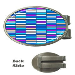 Color Grid 04 Money Clips (oval)