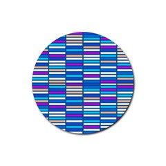 Color Grid 04 Rubber Coaster (round)