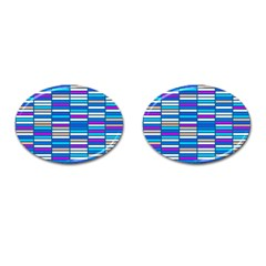 Color Grid 04 Cufflinks (oval)