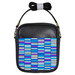 Color Grid 04 Girls Sling Bags