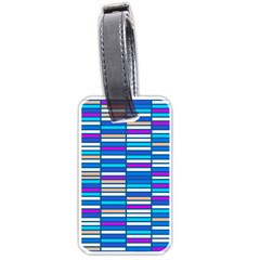 Color Grid 04 Luggage Tags (one Side)