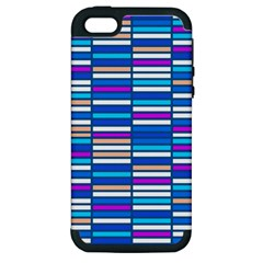 Color Grid 04 Apple Iphone 5 Hardshell Case (pc+silicone)