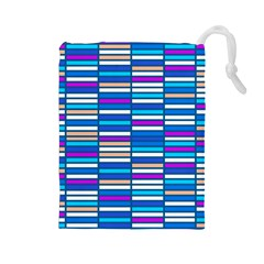 Color Grid 04 Drawstring Pouches (large)