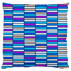 Color Grid 04 Large Flano Cushion Case (two Sides)