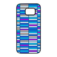 Color Grid 04 Samsung Galaxy S7 Edge Black Seamless Case