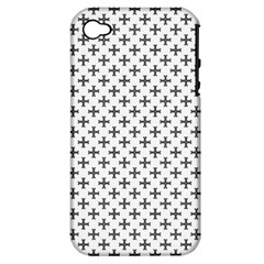 Black Cross Apple Iphone 4/4s Hardshell Case (pc+silicone)