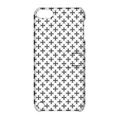 Black Cross Apple Ipod Touch 5 Hardshell Case With Stand