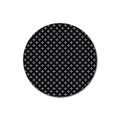 White Cross Rubber Coaster (round)