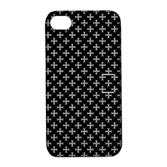 White Cross Apple Iphone 4/4s Hardshell Case With Stand