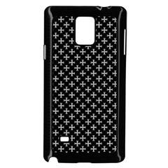 White Cross Samsung Galaxy Note 4 Case (black)