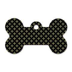 Yellow Cross Dog Tag Bone (two Sides)