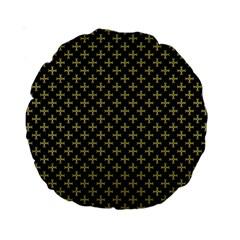 Yellow Cross Standard 15  Premium Round Cushions