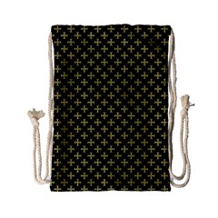 Yellow Cross Drawstring Bag (small)