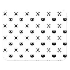 Black Pixel Skull Pirate Double Sided Flano Blanket (large)