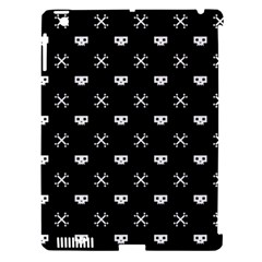White Pixel Skull Pirate Apple Ipad 3/4 Hardshell Case (compatible With Smart Cover)