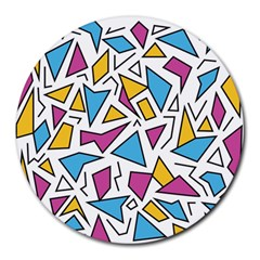 Retro Shapes 01 Round Mousepads