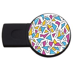 Retro Shapes 01 Usb Flash Drive Round (2 Gb)